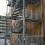 Steel staircase to the hospital